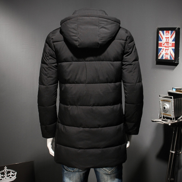 2018 NEW large men's coat in autumn winter cotton-padded jacket 8XL 7XL new warm casual black Army green cotton-padded jacket