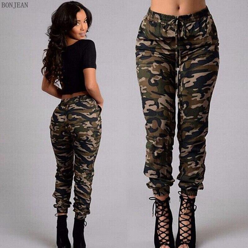 2017 Camouflage Frauen Jeans Workout Hose Plus Größe Frau Persönlichkeit Trends Tarnung Hosen Für Frauen