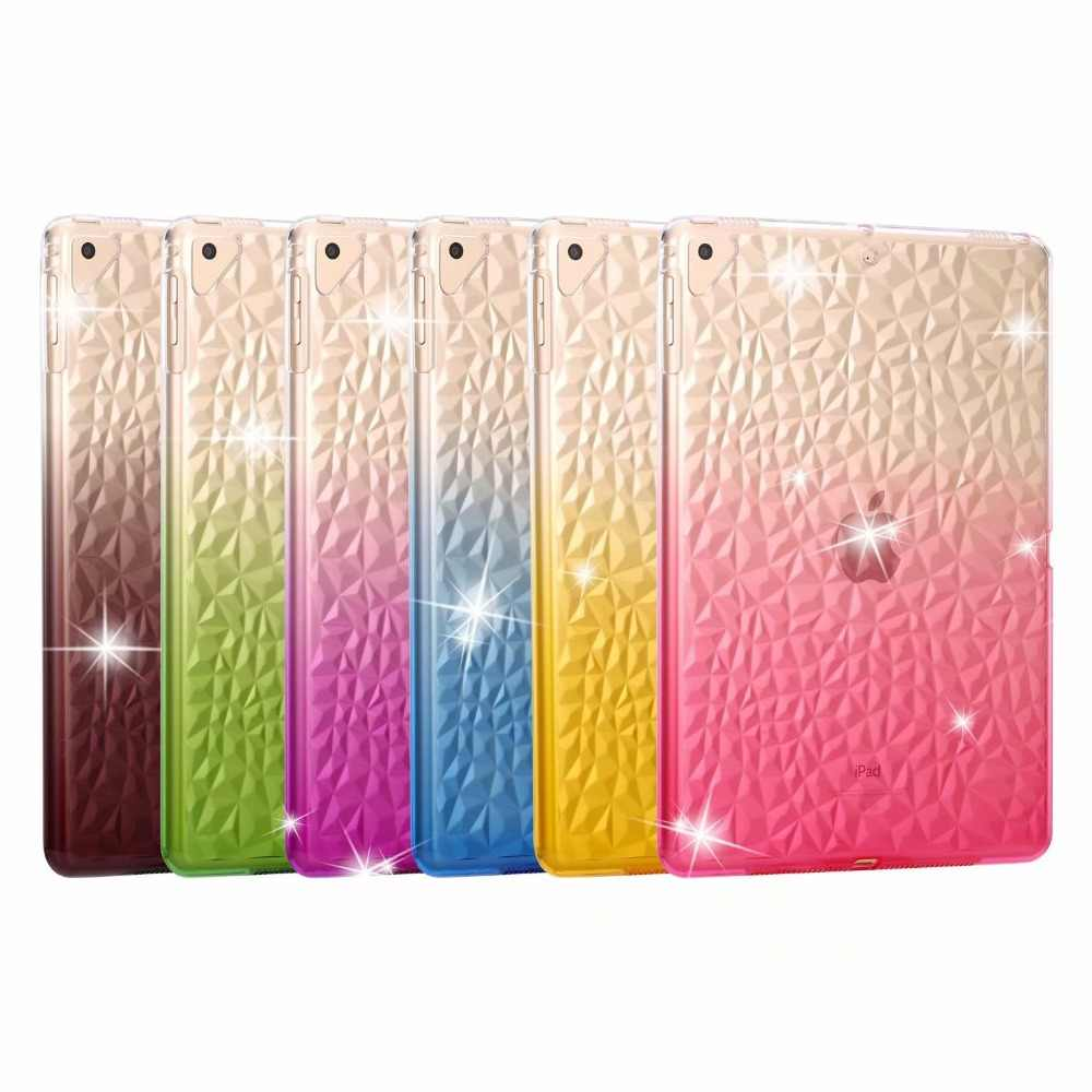 Case For Apple iPad 9.7 2017 2018 A1893 A1822 Clear Transparent Soft Silicon TPU Tablet Cover  For iPad Pro 9.7 Air Air 2 + pen
