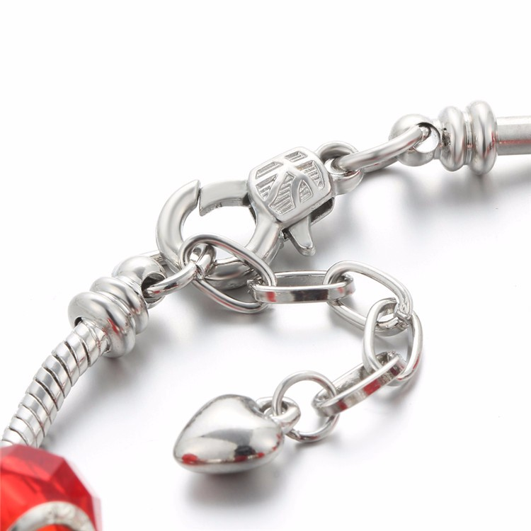 17KM Vintage Silver Color Charm Glass Bracelets For Women 17 New Crystal Heart Beads Bracelets & Bangles Pulseras DIY Jewelry 45