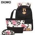 Рюкзак DIOMO для девочек  с цветочным принтом  3 шт./компл.  2020