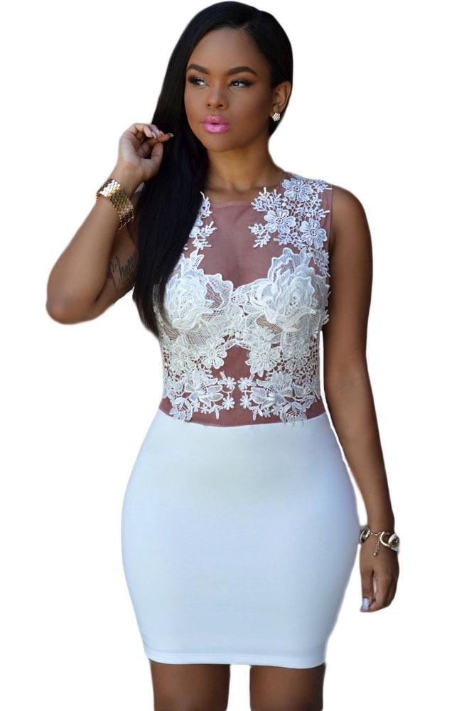 Popular White See Through Club Dress-Buy Cheap White See Through ...