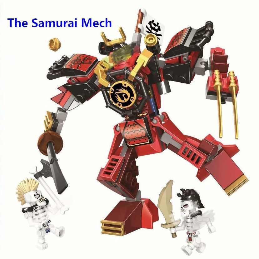 Hot Ninja Samurai de Robôs Modelo Compatível Com Lego 70665 Ninjago Samurai Mech Blocos de Construção Tijolos Brinquedos para Crianças Presente