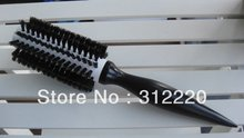Retail 10 Row Nature Bristle hair brush/ceramic hair brush/professional hair brush,Size:25*dia 5cm,+Free Shipping