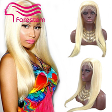#613 blonde silk top full lace wig straight brazilian hair full lace wigs silk base 4×4 human hair wigs 180density