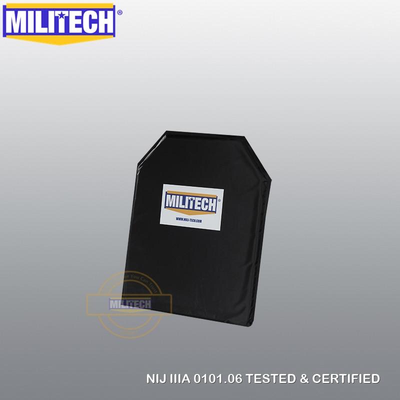Ballistic Panel BulletProof Plate NIJ Level IIIA 3A & NIJ 0101.07 Level HG2 10 X 12 Shooters Cut Aramid Soft Body Armor-MILITECH
