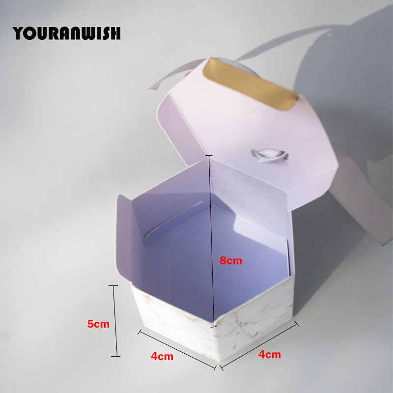 YOURANWISH 50 шт. новый творческий мраморность стиль коробки конфет Свадебные вечерние сувениры партии наборы; детский душ спасибо подарочная коробка