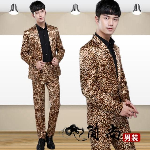 Fashion leopard blazer men formal dress latest coat pant designs suit men costume homme terno masculino suits for men's stage