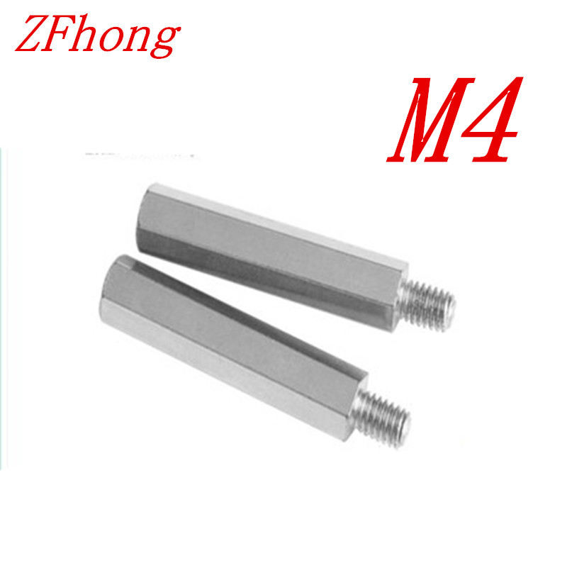 20PCS m4 thread  male to female Stainless steel 304 hex spacer standoff  m4x6/8/10/12/15/20/25/30/35/40+6 m4 male m 25 30 35 40 45 50 55 60 mm x m4 6mm female brass standoff spacer copper hexagonal stud spacer hollow pillars