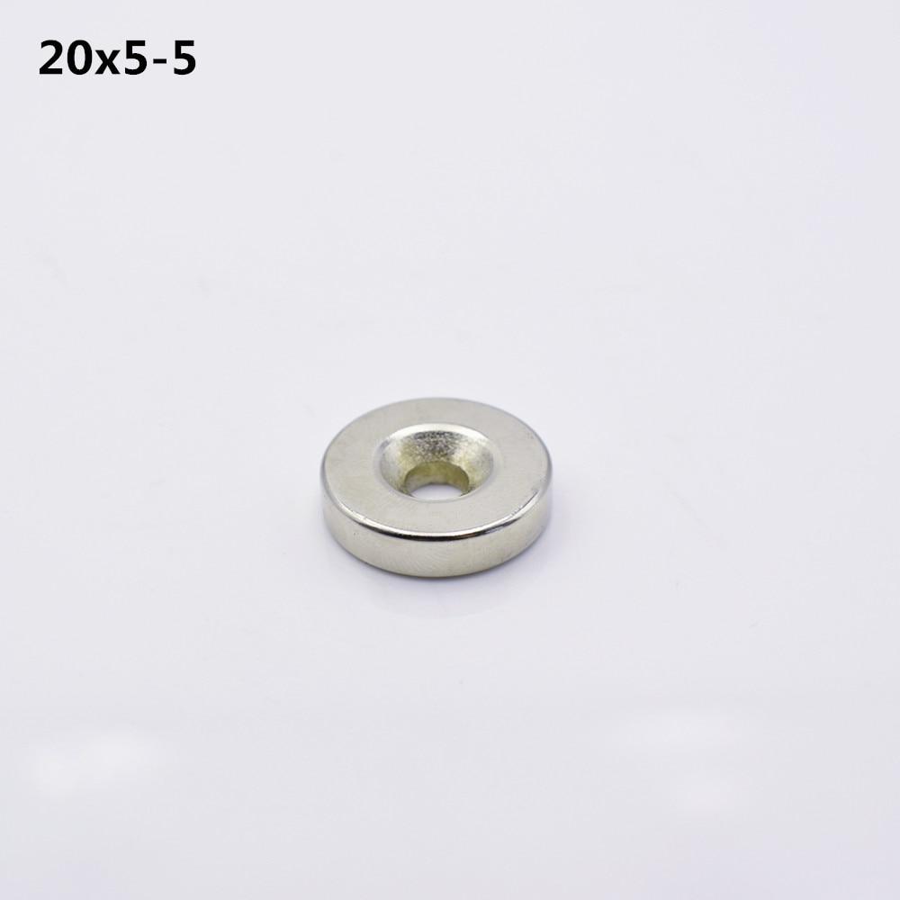 10pcs 20x5 hole 5MM Ring Round Neodymium Magnets With Hole NEW 20*5 diy 5mm round neodymium magnets purple 216 pcs