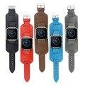 5 chama cor pulso de couro cinta banda pulseira para fitbit tracker smart watch