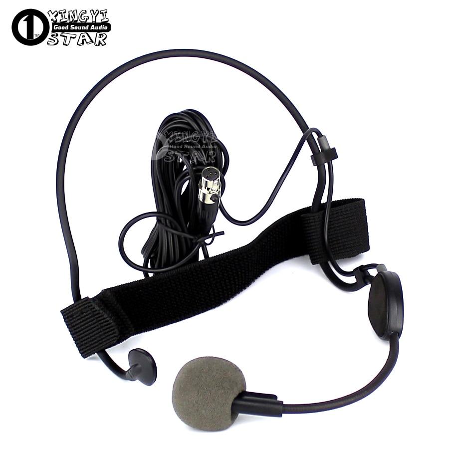 mini xlr 4 pin ta4f headworn headset microphone professional vocal dynamic mic for shure wh20tqg. Black Bedroom Furniture Sets. Home Design Ideas