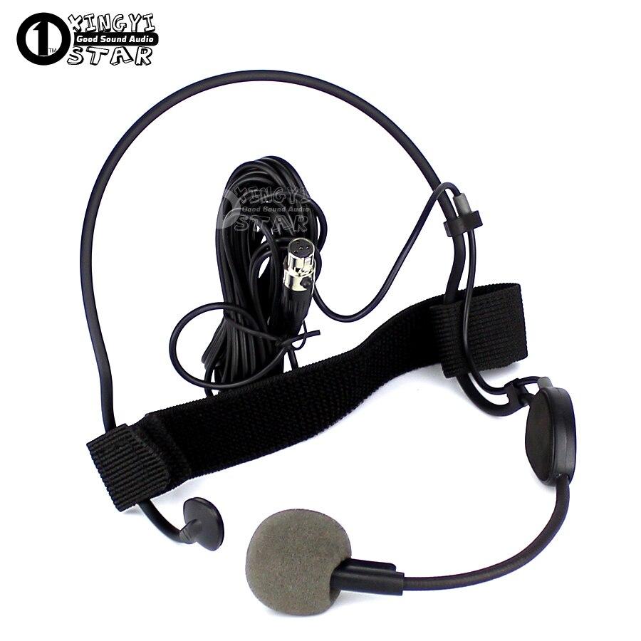 Mini XLR 4 Pinos TA4F WH20TQG Vocal Microfone Dinâmico Para SHURE Headworn Microfone Headset Profissional Sem Fio Transmissor UR4D UR4S