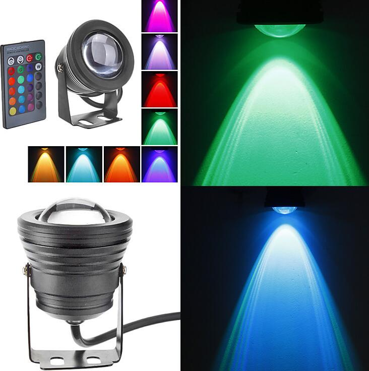 underwater RGB Led Light 10W RGB for swimming pool pond piscina aquarium fountain water lighting onder water 12V IP67