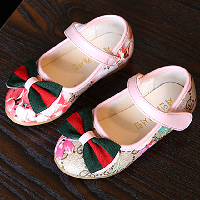 2017 New Girls Shoes Ankle Strap Princess Spring Shoes Baby Girls Ballet Shoes First Walkers Sapatos Meninas