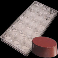 18 Cups Oval Shaped Polycarbonate Chocolate DIY Mold Magnetic Transfer Candy Mould