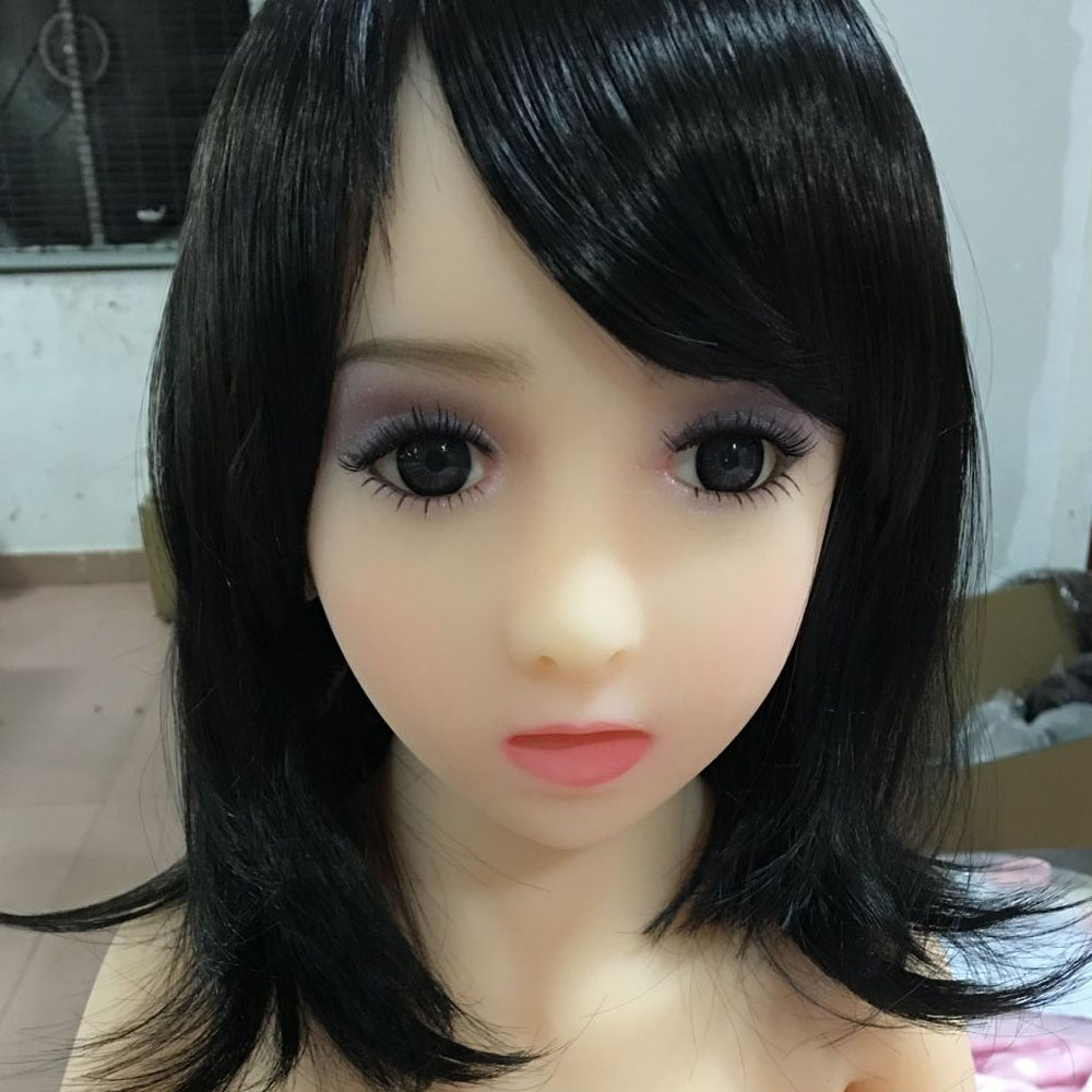 TPE Silicone <font><b>doll</b></font> <font><b>head</b></font> with oral <font><b>sex</b></font> love <font><b>dolls</b></font> <font><b>head</b></font> full size real girl face, fit body size <font><b>100cm</b></font>-128cm free shipping By DHL image