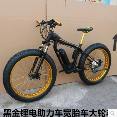 Elektrische bekrachtigde big band fiets vet fiets sneeuw fiets 36/48 V 21/24/27/30 speed moutain bike 26X4.0 dubbele schijfrem
