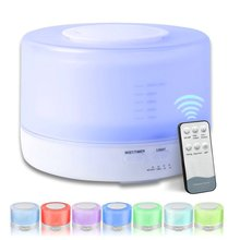 500ML Ultrasonic Air Humidifier Remote Control 7 Changing Colors LED Ultra-Quite The Diffuser De Aroma Essential Oil