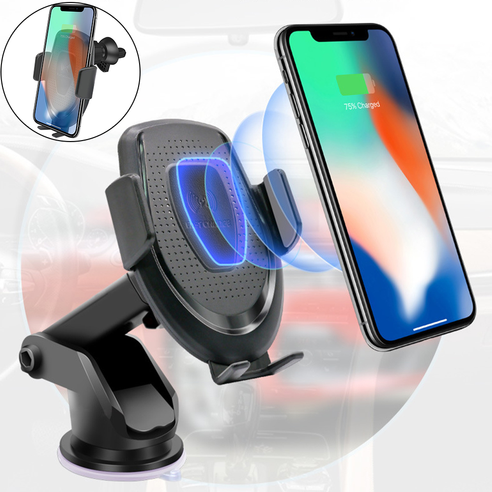 2 in1 QI 10W Car Air Vent Sucktion Cup Holder Wireless Charger for iPhone Xs X 7 6 Intelligent Sensor Fast Dashboard Charging2 in1 QI 10W Car Air Vent Sucktion Cup Holder Wireless Charger for iPhone Xs X 7 6 Intelligent Sensor Fast Dashboard Charging