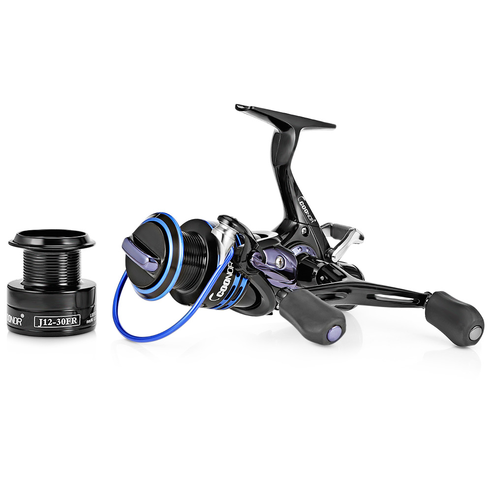 COONOR J12 9 + 1BB Metal Spool Fishing Reel 5.1:1 Gear Ratio Spinning Reel Full Metal Spool With Double T-Shape Handles YL-17