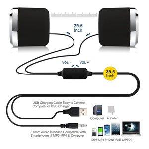 Image 5 - Usb 2.0ノートブックスピーカー有線ステレオミニコンピュータスピーカーデスクトップラップトップノートブックpc用MP3 MP4 3.5ミリメートルaux in黒