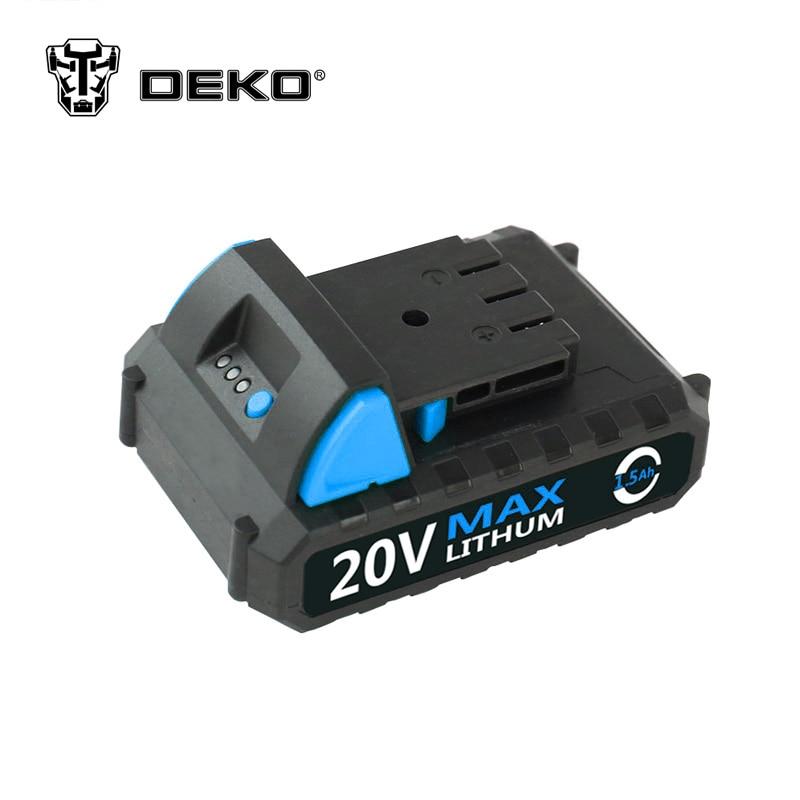DEKO 20V Lithium 1500mAh Cordless Drill Tool Battery Pack for GCD20DU3DEKO 20V Lithium 1500mAh Cordless Drill Tool Battery Pack for GCD20DU3