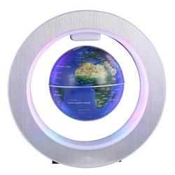MIRUI LED Wereldkaart Nieuwigheid Magnetische Levitatie Zwevende Globe Drijvende Tellurion Met LED Licht Woondecoratie Kantoor Ornament