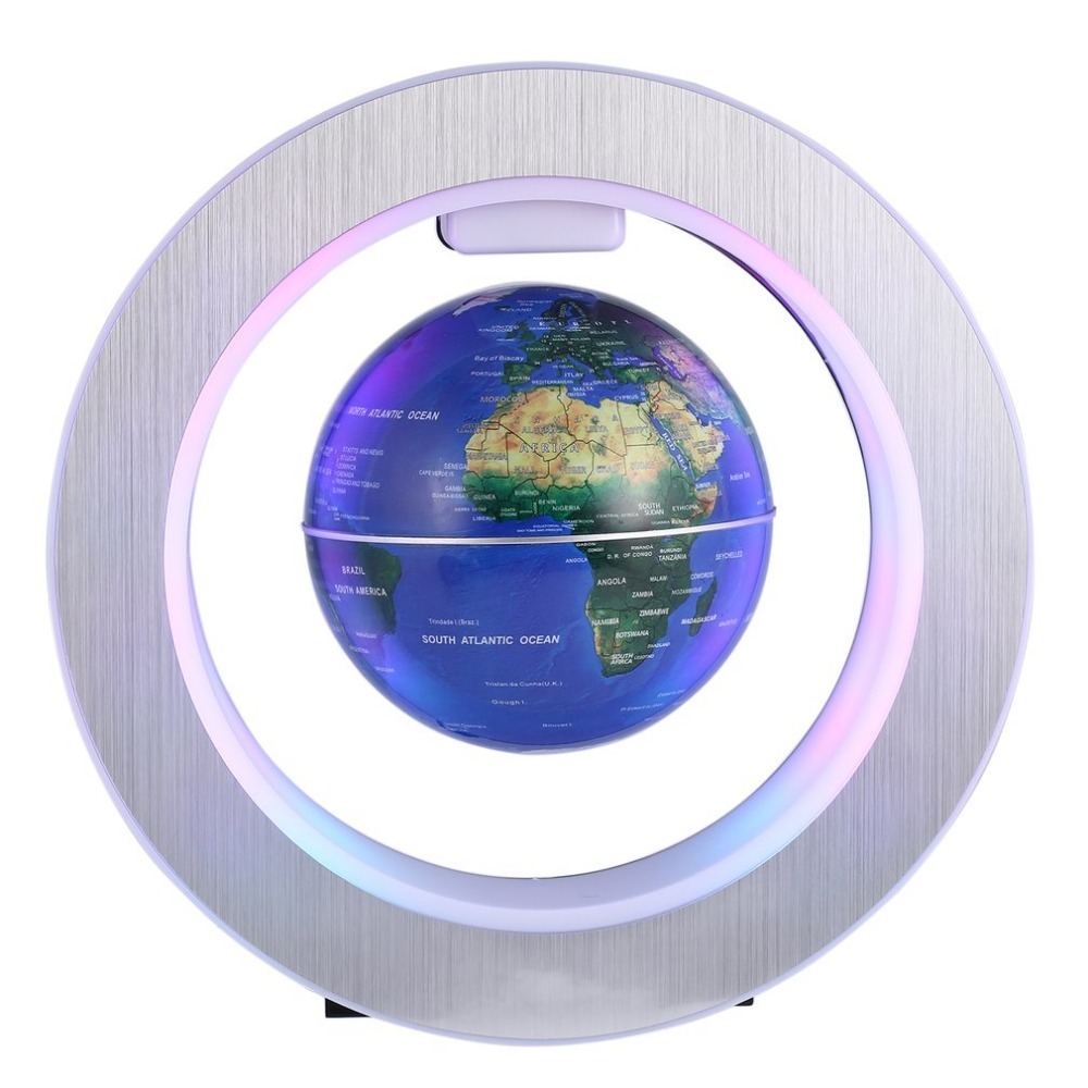 MIRUI LED World Map Novelty Magnetic Levitation Floating Globe Floating Tellurion With LED Light Home Decoration Office Ornament