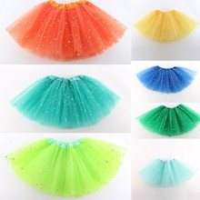 Newest Girls Kids Tutu Skirt Party Ballet Dance Wear Pettiskirt Costume for 2-7Y 15 Colors
