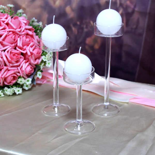 סגנון חדש 2019 אופנה קלאסי זכוכית פמוט חתונה בר מסיבת בית תפאורה קישוט אופנה פמוטים משלוח חינם