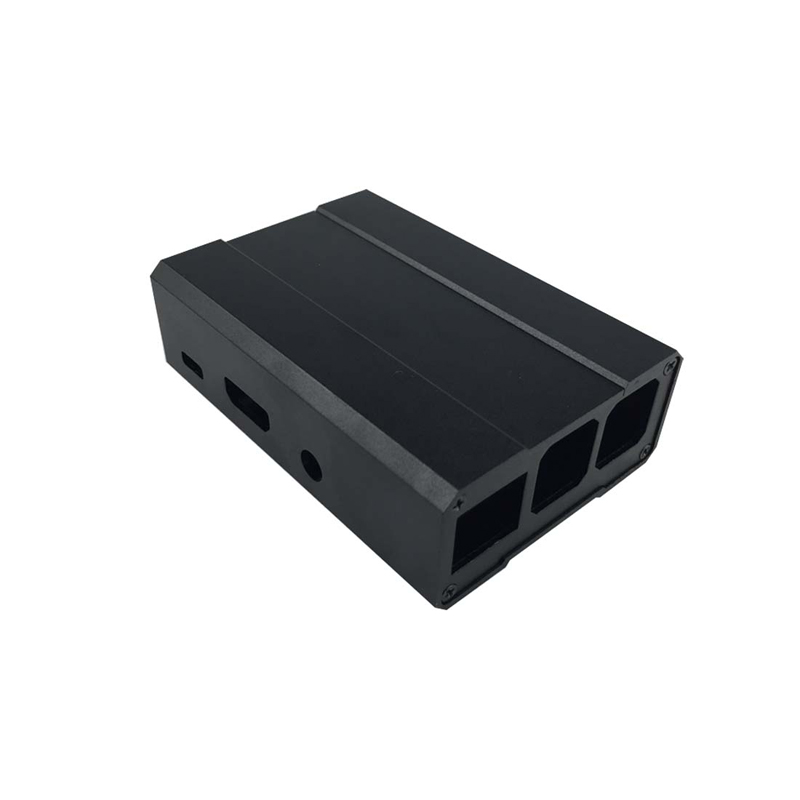 High Quality Raspberry Pi 3 Case Aluminum Raspberry Pi 2 Box Case Shell with Black Slivery
