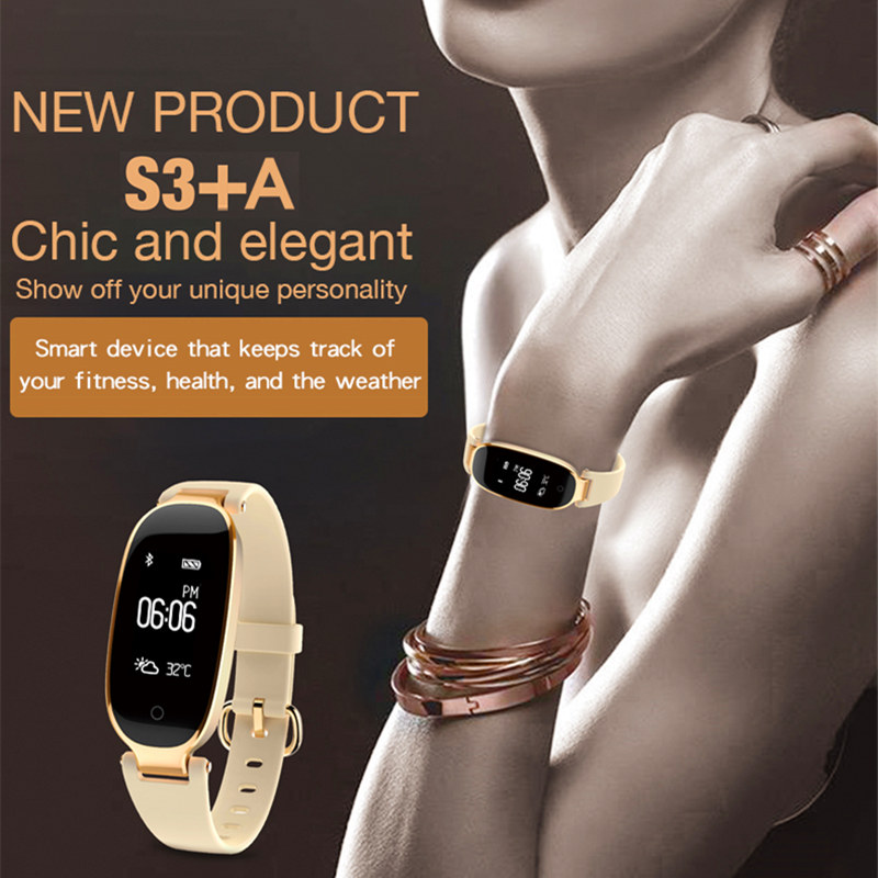 New Bluetooth S3 Smart Watch Fashion Women Lady Waterproof Digital Heart Rate Monitor Fitness Tracker Smartwatch For Android IOS все цены
