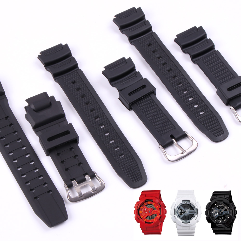 Rubber Strap for Casio PGR-270/ PGR-270-1/ MRW-200H / SGW-500 <font><b>G</b></font> <font><b>Shock</b></font> GA-1000/1100 GW-4000/A1100 <font><b>G</b></font>-1400 Watch Wrist Bracelet Man image