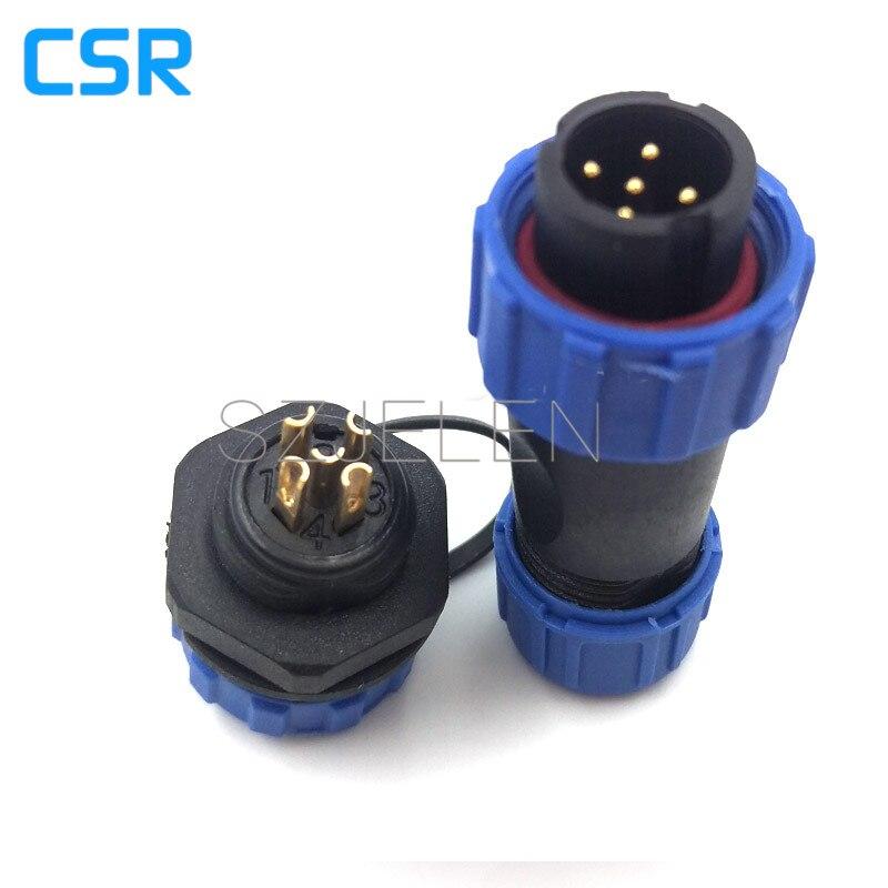 SP1310, 5 pin wasserdichten stecker, Power draht-anschlüsse ...