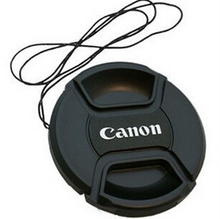 58mm Lens Cap Cover With Logo For Canon 58mm 400D 450D 500D 550D 600D 18-55 With Anti-lost Rope Tracking Number 2pcs