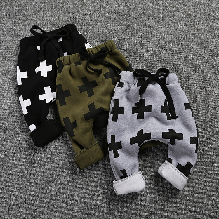 KS-670,2016 new winter baby trousers for boys cross star pants,shalwar kameez pants for girls boys baby pants kids boy clothes