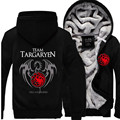 New Game of Thrones Viserys Targaryen Dragon long sleeve Hoodies Thicken Winter Fleece Mens warm Animation Hooded Sweatshirts