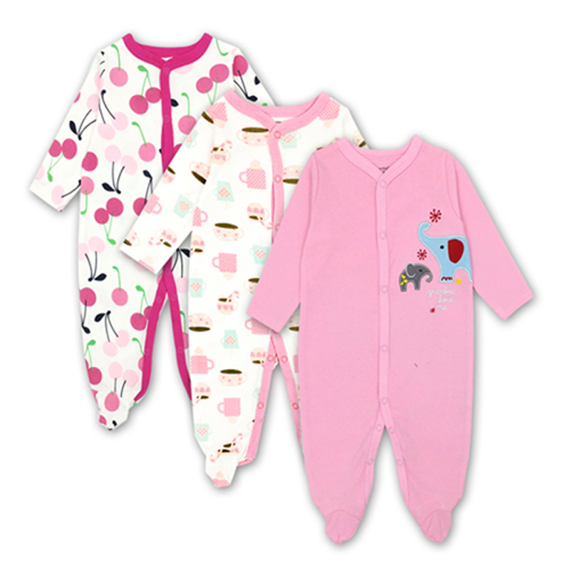 3set/lot Baby Romper Autumn girl long sleeve Infant Jumpsuit newborn tights Baby Clothing Set bebe baby Clothes 3pcs set newborn infant baby boy girl clothes 2017 summer short sleeve leopard floral romper bodysuit headband shoes outfits