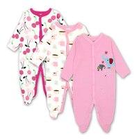 Carters Newborn Baby Girls Romper Clothes Long Sleeve 100 Cotton Cartoon Infant Clothing 3pcs Set 0