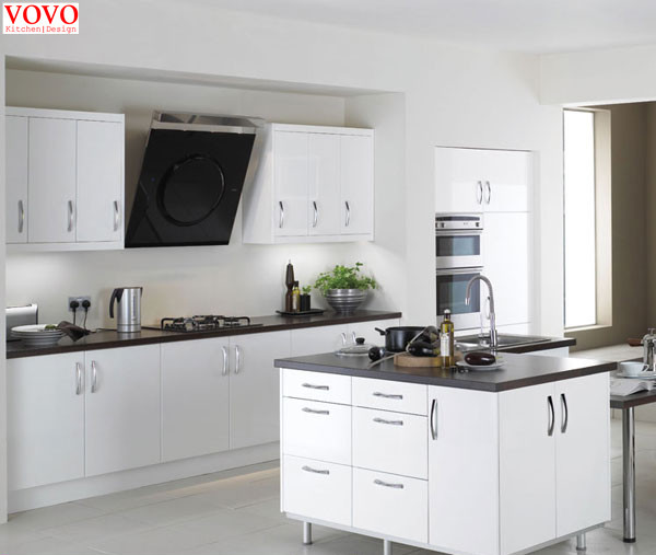 Pure White Melamine Kitchen Cabinet In Kitchen Cabinets