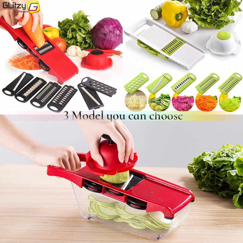Овощерезка 6 режущих лезвий мандолина слайсер фрукты Овощечистка картофеля терка для сыра Измельчитель кухонные аксессуары овощерезка