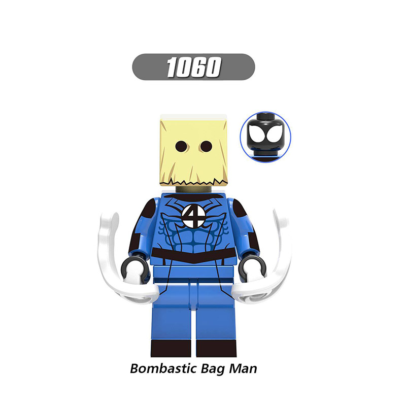 Single Sale LegoINGlys Super Heroes Venom Spider-Man Figures Bombastic Bag Man Building Blocks Toys Children Boys Gifts X0231