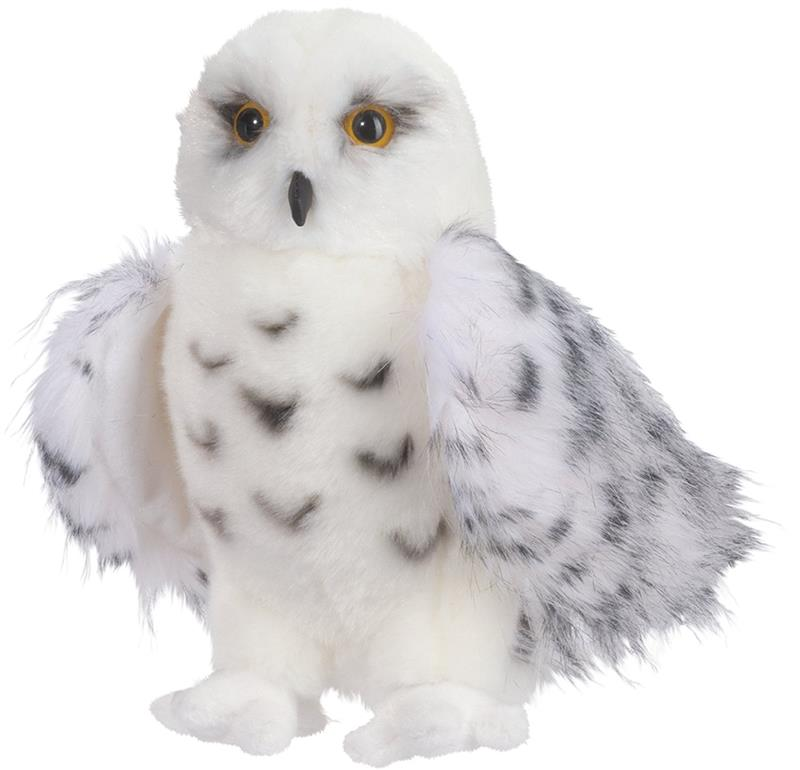 Magic World Cuddle Toys Stuffed Wizard Snowy Owl 8 Inch Sitting Stuffed Snowy Owl Wizard Beautiful Majestic Adorable Home Decor