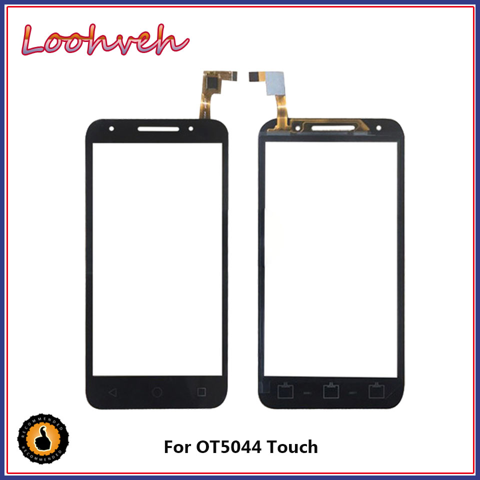 Touch Screen 5.0''For <font><b>Alcatel</b></font> One Touch U5 5044D 5044I <font><b>5044T</b></font> 5044Y OT5044 Touch Digitizer Panel Front Glass Lens Sensor Black image
