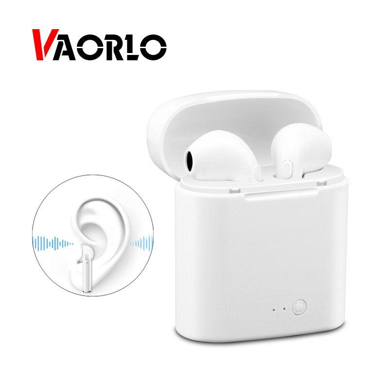 VAORLO Bluetooth Cuffia Auricolare Senza Fili Auricolari Doppio Gemelli Musica Stereo Auricolare Con Microfono Per IOS Iphone X Xiaomi