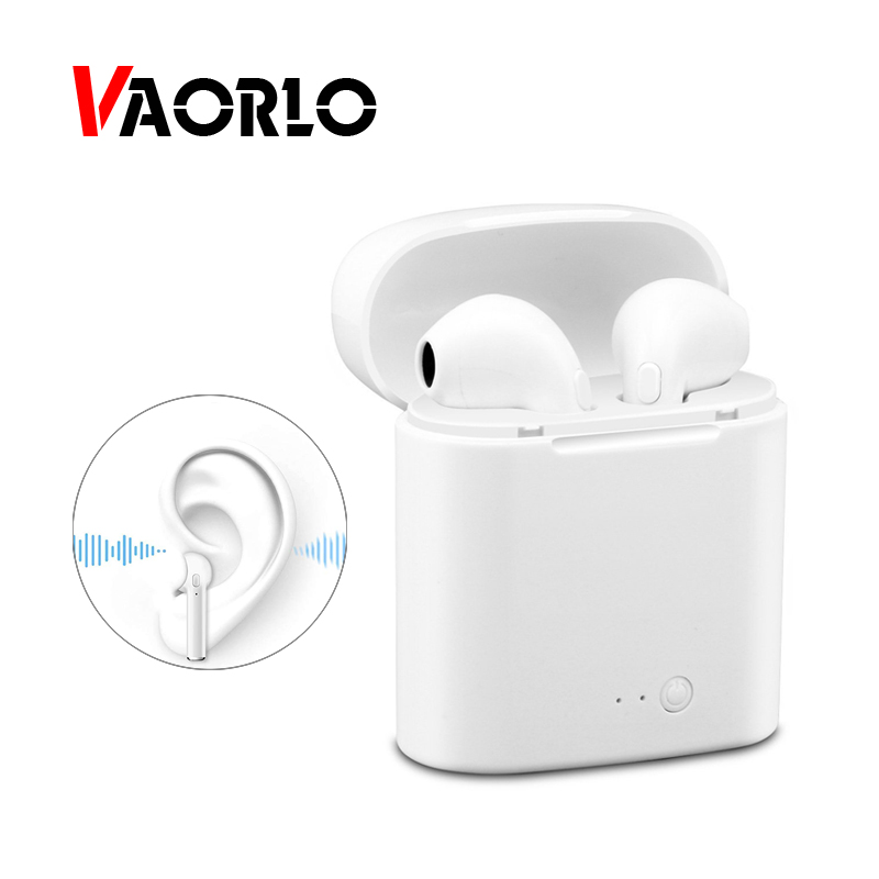 VAORLO Bluetooth Earphone Headphone Wireless Earbuds Double Twins Stereo Music Headset With Microphone For IOS Iphone X Xiaomi