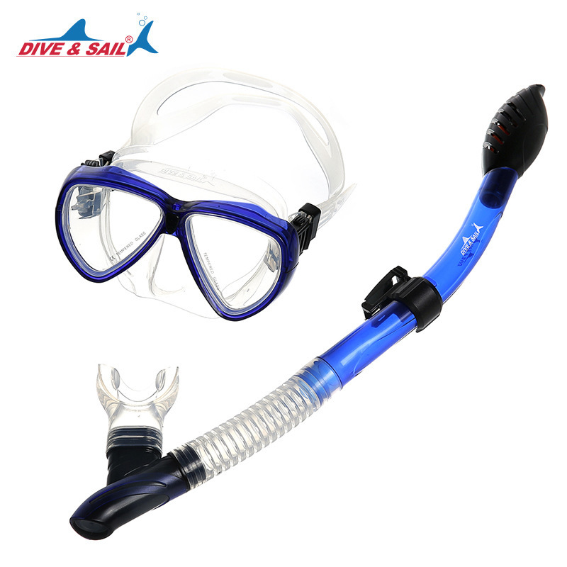 Set Silicone Scuba Diving Mask Diving Snorkel Diving Goggles Myopia Lens for Optional
