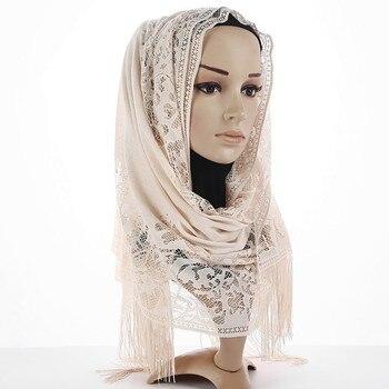 Hijab Scarf Tassel Shawl  2