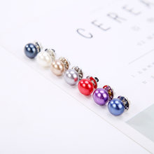 7 Colors White Black Red Blue Simple Simulated Pearl Bead Silver Fancy Brooches For Women(China)